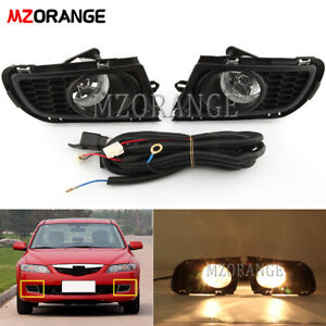 Pair Fog Light For Mazda 6 2006 2010 Front Bumper Driving Lamp Wiring Switch Kit
