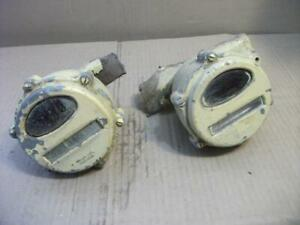 Pair Of Vintage Farm Tractor Lights