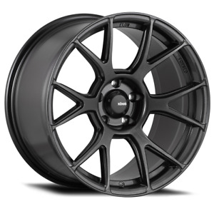 19x10b Konig Ampliform 5x120 28 Dark Metallic Graphite Wheels Set Of 4