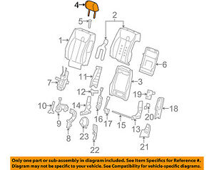 Cadillac Gm Oem 09 11 Dts Front Seat headrest Head Rest 20914672