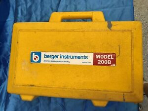 Berger Instruments Model 200b Surveying Level Transit level With Carry Case