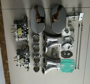 Carburettor Carb Conversion Kit For Vw Type 1 Fajs Hpmx Weber 48 Idf Dual 48idf