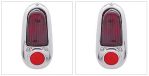 Chevrolet Chevy Tail Light Assembly W chrome Bezel Pair Left And Right 1949 1950