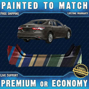 New Painted To Match Rear Bumper Replacement For 2018 2020 Toyota Camry L Le
