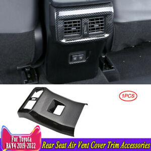 For Toyota Rav4 2019 2020 Carbon Fiber Rear Seat Air Vent Cover Trim Accessories