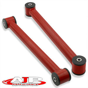 Red Rear Lower Control Trailing Arms Suspension Set For 1982 2002 Chevy Camaro