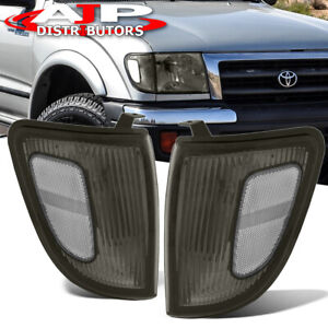 Smoked Lens Head Lights Corner Turn Signal Lamps For 1998 2000 Toyota Tacoma 4wd