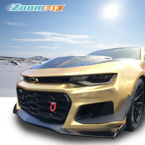 Fit 2016 2018 Chevy Camaro Zl1 V2 Style Front Bumper Grill Conversion Body Kits