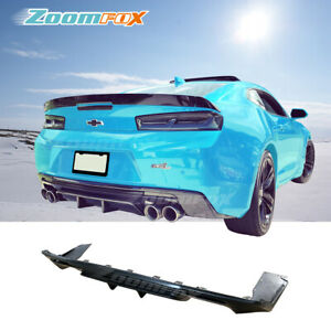Fit 2016 2018 Chevy Camaro Zl1 Style Rear Bumper Diffuser Lower Lip Body Kit