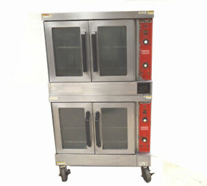Vulcan Vc4gd Dual Commercial Gas Convection Oven Vari speed 44kbtu hr 150 500 f