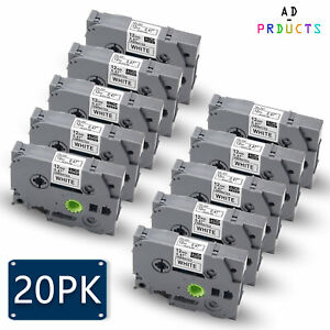 20pk Label Tape Tz231 Tze 231 12mm For Brother P touch Pt d400vp P700 1880c H100