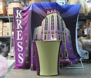 Entasi Pop Up Booth Fabric Tension Display Trade Show Graphic Podium Kress Holly