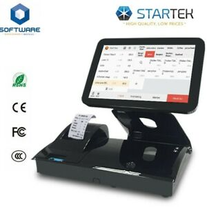 All in one Touch Screen Pos Cash Register 0 Monthly Fee Software For Retail