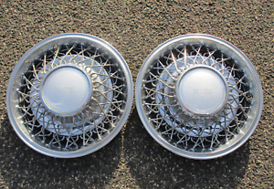 Factory Original 1981 To 1983 Imperial 15 Inch Wire Spoke Hubcaps Wheel Covers