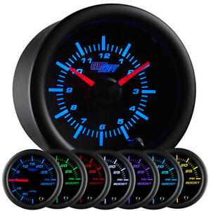 2 1 16 52mm Glowshift Black 7 Color Series Analog Clock Gauge For 12 Volts