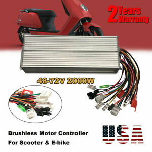 2000w Brushless Motor Controller For Electric Bicycle E bike Scooter Dc48 72v Us