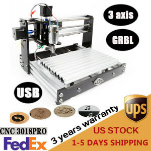 3018 Pro Diy Cnc Router 2in1 Engraving Machine 12w Spindle Er11 Collet