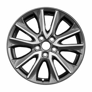 New 18 X 7 Cnc Charcoal Replacement Wheel Rim For 2016 2017 2018 Mazda Cx3