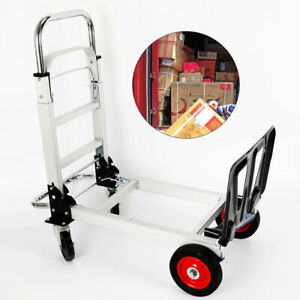 2 in 1 Hand Truck Dolly Convertible Aluminum Heavy Duty Fold Practial Cart 200kg