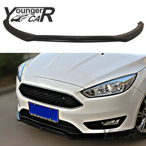 Front Bumper Lip For Ford Focus 2015 18 Rs St Body Kit Spoiler Wing Gloss Black