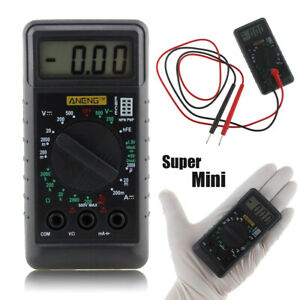 Mini Pocket Dmm Digital Multi Meter Ohm Test Voltmeter Ammeter With Buzzer