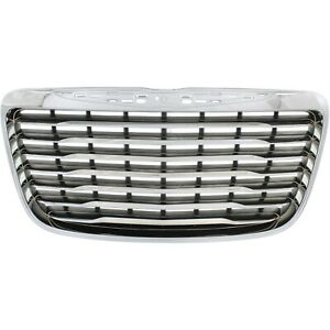 Grille For 2011 2014 Chrysler 300 Chrome Shell W Black Insert Plastic