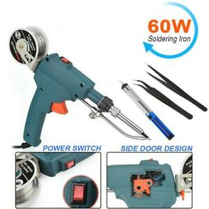 110v 60w Automatic Send Tin Gun Electric Soldering Iron Rework Station Tools