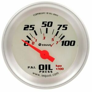 Equus 1 1 2 Inch White Faced Electrical Oil Pressure Gauge Kit Equus 8164 New