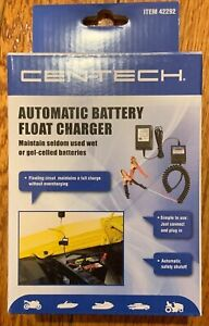 New Cen Tech Automatic Battery Float Charger For Lead Acid Batteries 42292 V2