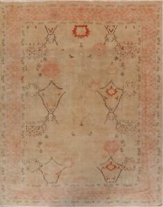 Antique Oushak Turkish Vegetable Dye Hand Knotted Oriental Area Rug 8x10 Carpet