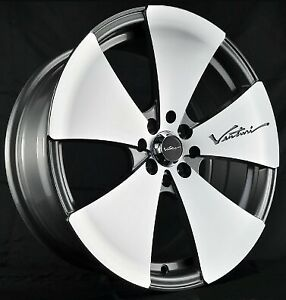 4pcs Vertini 17inch 7jj 4x100 4x114 3 Alloy Wheels Cheap Car Rims Gunmetal 984 7