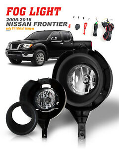 Replace Fog Lights For 05 16 Nissan Frontier Car Lamps Wiring Harness Switch H11