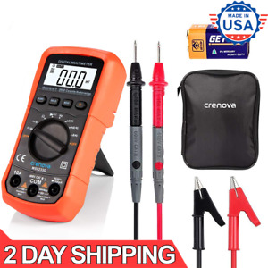 Pro Digital Multimeter Volt Meter Tester Electric Ohm Ac Dc Auto Range Lcd Displ