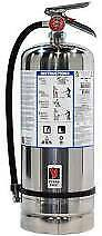 New Strike First 6 Liter K class Fire Extinguisher W 2 Signs And Wall Bracket