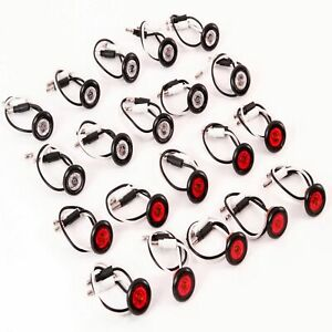 10 3 4 Red Clear Led Clearance Side Marker Lights Truck Trailer New