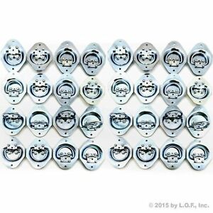 40 Recessed Tie Down D Rings 1 4 Dia Lashing Flatbed Trailer Towing Truck New