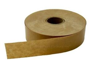 Gummed Tape Brown Non Reinforced 10 Roll 600 72m 54 00 Per Case Free Ship