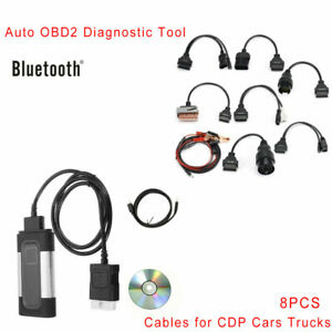 12v 8pcs Car Cables Adapter Obd2 Ii Cdp For Autocom Cdp Pro Diagnostic Scanner