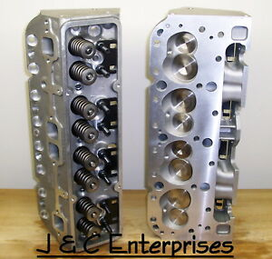 New Aluminum Performance Chevy 350 400 Cylinder Heads 600 Springs 200cc Intake