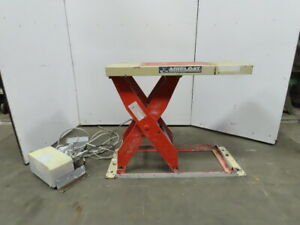 4000lb Cap Air Over Hydraulic Lift Table 48 1 2 x24 1 2 Top 7 1 2 To 43 1 2 h