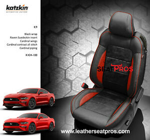 Katzkin Leather Seat Covers 15 20 Ford Mustang Coupe Convertible Black Raven Red