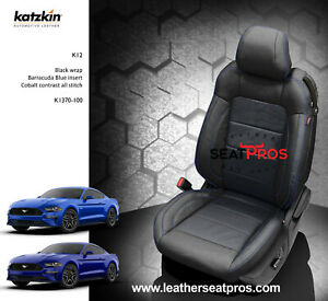 Katzkin Leather Seat Covers 15 20 Ford Mustang Coupe Convertible Barracuda Blue