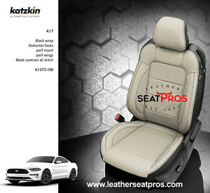 Katzkin Leather Seat Covers 15 20 Ford Mustang Coupe Convertible Black Alabaster