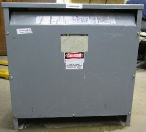 Square D 75t3h 75 Kva Transformer 480 208y 120 60 Hz 3 Phase Enclosure Type 2