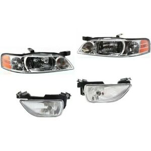 Headlight Kit For 2000 2001 Nissan Altima Left And Right 4pc