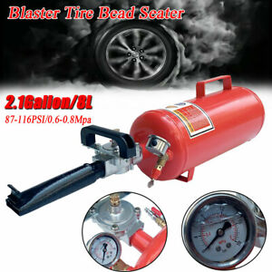 Portable Handheld Tire Bead Seater Air Blaster Tool Trigger Seating Inflator 8l