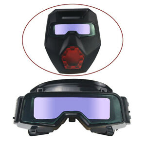 Solar Powered Auto Darkening Welding Mask Goggles Welding Glasses Adjustable