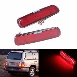 For Lexus Toyota Land Cruiser 100 Red Led Bumper Reflector Stop Brake Tail Light