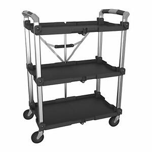 Olympia Tools 85 189 Pack N Roll Xl Collapsible Storage Service Cart With Wheels