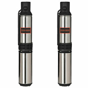 Red Lion 1 Hp 12 Gpm 230 Volt 250 Foot Depth Submersible Well Pump 2 Pack